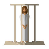 Jesus christ sentenced death - via crucis shadow Stock Photography