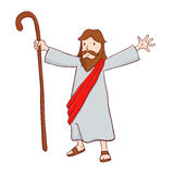 Jesus Christ The Shepherd With Open Arms Stock Images