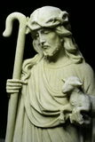 Jesus Christ Shepherd Statue Stock Photos