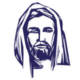 Jesus Christ, the Son of God , symbol of Christianity hand drawn vector illustration Royalty Free Stock Image