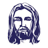 Jesus Christ, the Son of God , symbol of Christianity hand drawn vector illustration Stock Photography