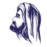 Jesus Christ, the Son of God , symbol of Christianity hand drawn vector illustration Royalty Free Stock Photo