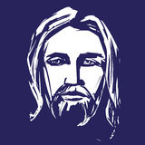 Jesus Christ, the Son of God , symbol of Christianity hand drawn vector illustration Stock Photo