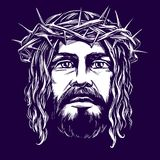 Jesus Christ, the Son of God, symbol of Christianity hand drawn vector illustration sketch Stock Photos