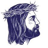 Jesus Christ, the Son of God, symbol of Christianity hand drawn vector illustration sketch Royalty Free Stock Photos