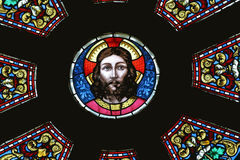 Jesus Christ. Stained glass church window Royalty Free Stock Image