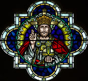 Jesus Christ in stained glass Stock Photography