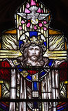 Jesus Christ in stained glass Royalty Free Stock Photos