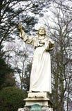 Jesus Christ-standbeeld-Leiding begraafplaats-Hamburg Royalty-vrije Stock Fotografie