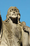 Jesus Christ statue against a background of blue sky Stock Photo