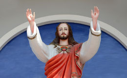 Jesus Christ. Statue of Jesus Christ with arms stock photos