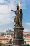 John the Baptist statue on the Charles Bridge in Prague (Czech Repub Royalty Free Stock Image