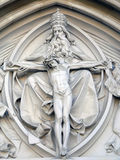 Jesus Christ statue on church Royalty Free Stock Image