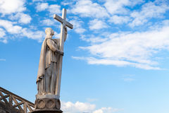 Jesus Christ statue with cross. Gaeta, Italy Royalty Free Stock Photo