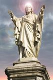 Jesus Christ statue with halo on his head. Royalty Free Stock Images