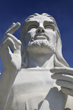 Jesus Christ statue in Havana against blue sky Royalty Free Stock Images