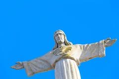 Jesus Christ Statue i Lissabon Royaltyfri Bild