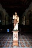Jesus Christ-Statue innerhalb der Kirche Iglesia de Nuestra Senora de la Merced in Camaguey, Ost-Kuba Lizenzfreie Stockbilder