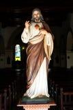 Jesus Christ-Statue innerhalb der Kirche Iglesia de Nuestra Senora de la Merced in Camaguey, Ost-Kuba Stockfotos