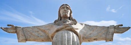 Jesus Christ Statue a Lisbona immagine stock libera da diritti