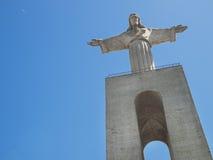 Jesus Christ Statue a Lisbona, monumento di CristoRei fotografie stock