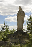 Jesus Christ statue in quarry. Jozefow. Poland Royalty Free Stock Images