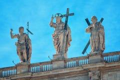 Jesus Christ staty på San Pietro Royaltyfri Foto
