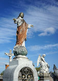 Jesus Christ Stone Cemetery Statue Royalty Free Stock Photography