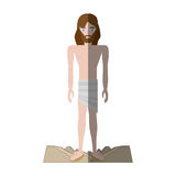 Jesus christ stripped robes shadow Royalty Free Stock Image