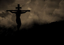 Jesus Christ su un incrocio Immagini Stock Libere da Diritti