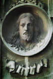 Jesus Christ su una tomba antica (statua) Fotografia Stock Libera da Diritti