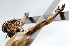 Jesus Christ sull'incrocio Fotografia Stock Libera da Diritti