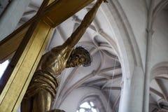 Jesus Christ sull'incrocio Fotografie Stock Libere da Diritti