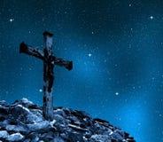 Jesus Christ sur la croix Images libres de droits