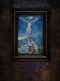 Jesus Christ sur la peinture croisée, la basilique de StPeter Photographie stock libre de droits
