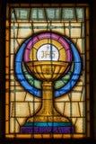 Jesus Christ Symbol en vitral Fotografía de archivo
