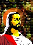 Jesus Christ symbol of Love and peace Stock Image