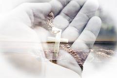 Jesus Christ Symbol Nature Art de alta qualidade fotos de stock royalty free