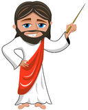 Jesus Christ Teacher Master Stick Isolated royalty free illustration