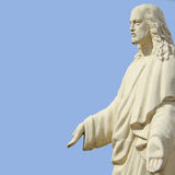 Jesus Christ the teacher (statue on a blue background) Royalty Free Stock Image
