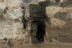Jesus Christ Tomb. The tomb of Jesus Christ at the Church of the Holy Sepulchre, Jerusalem, Israel royalty free stock photo