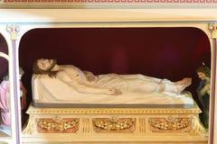 Jesus Christ in the tomb. Church of Saint Matthew in Stitar, Croatia royalty free stock photography