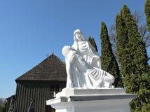 Jesus Christ und heilige Mary-Statue, Litauen stockbild