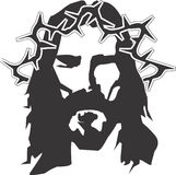 Jesus Christ Vector Design Clipart. Created in Adobe Illustrator in EPS format for illustration use in web and print for faith, religion, church and bible Stock Photo
