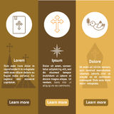 Jesus Christ,Vector icons set Royalty Free Stock Images