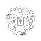 Jesus Christ,Vector icons set Royalty Free Stock Photo
