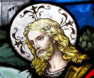 Jesus Christ in vetro macchiato Fotografia Stock