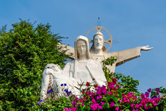 Jesus Christ and Virgin Mary statues Stock Photo