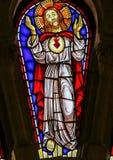 Jesus Christ - vitral en Viana do Castelo foto de archivo libre de regalías