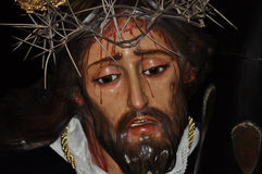Jesus Christ von Nazaret-Bild in der Karwoche lizenzfreie stockfotografie